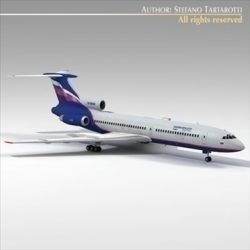 Tu 154 aeroflot ( 41.14KB jpg by tartino )