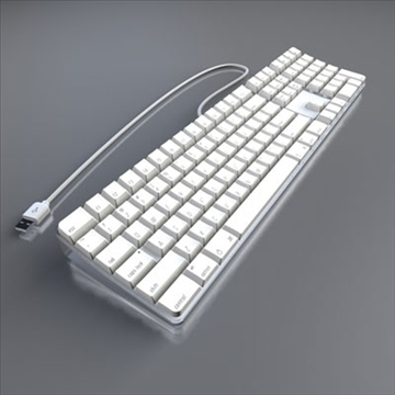apple keyboard 3d model 3ds dxf fbx c4d obj 85227