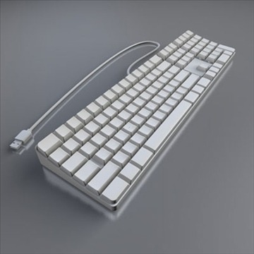 apple keyboard 3d model 3ds dxf fbx c4d obj 85231