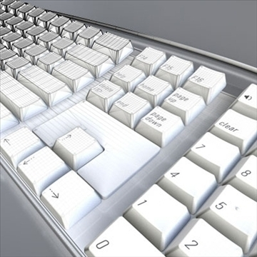 apple keyboard 3d model 3ds dxf fbx c4d obj 85236