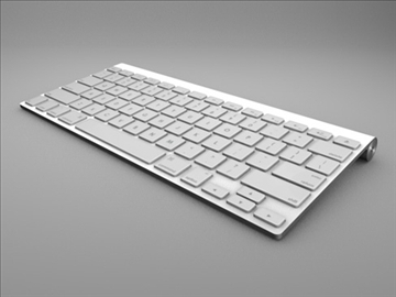apple wireless keyboard 3d model 3ds dxf fbx c4d x obj 85418