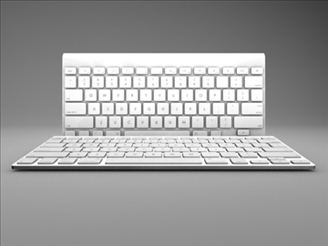 apple wireless keyboard 3d model 3ds dxf fbx c4d x obj 85419