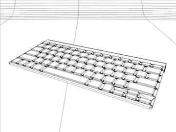 apple wireless keyboard 3d model 3ds dxf fbx c4d x obj 85421