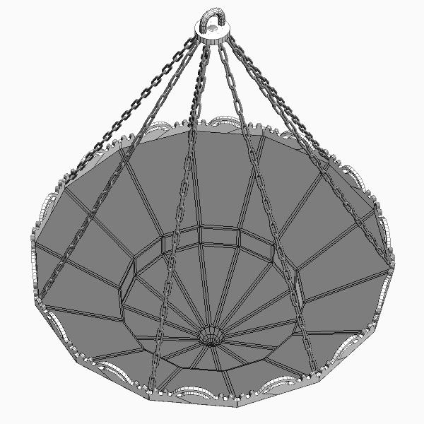 arabian chandelier 3d model 3ds max fbx texture 114814