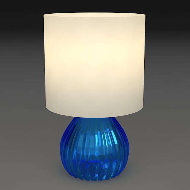 bedside lamp 3d model 3ds max dxf fbx jpeg jpg obj 114959