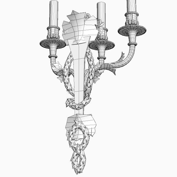 candelabrum sconce light 3d model 3ds max fbx obj 114847