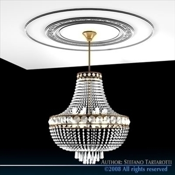 chandelier 3d model 3ds dxf c4d obj 90977