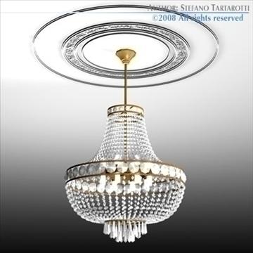 chandelier 3d model 3ds dxf c4d obj 90978