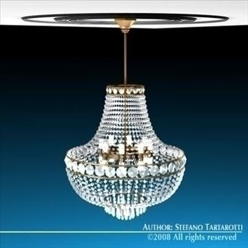 chandelier 3d model 3ds dxf c4d obj 90979