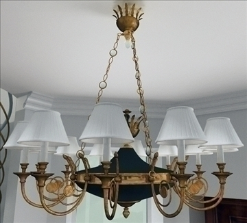 chandelier girandole 3d model lwo 79348