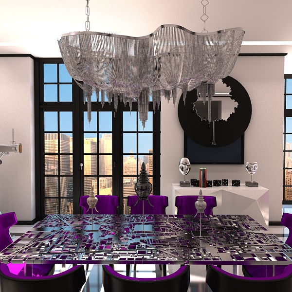 chandelier terzani atlantis 3d model 3ds max fbx 120830