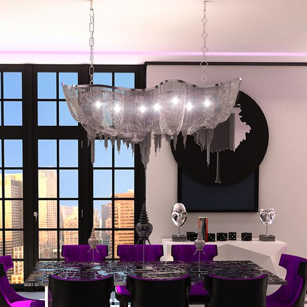 chandelier terzani atlantis 3d model 3ds max fbx 120831