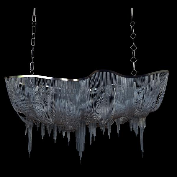 chandelier terzani atlantis 3d model 3ds max fbx 120832