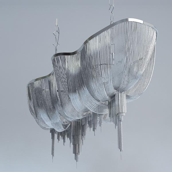 chandelier terzani atlantis 3d model 3ds max fbx 120834