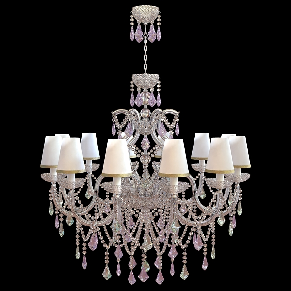 classical chandelier 3d model 3ds max fbx obj 120785