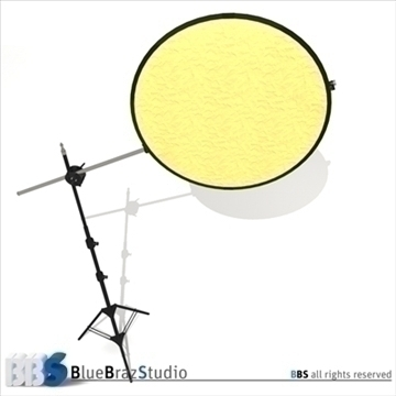 collapsible reflector 3d model 3ds dxf c4d obj 104120