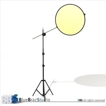 collapsible reflector 3d model 3ds dxf c4d obj 104121