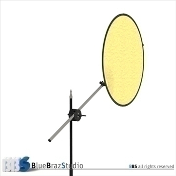 collapsible reflector 3d model 3ds dxf c4d obj 104122
