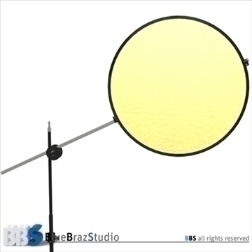 collapsible reflector 3d model 3ds dxf c4d obj 104123