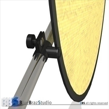 collapsible reflector 3d model 3ds dxf c4d obj 104128