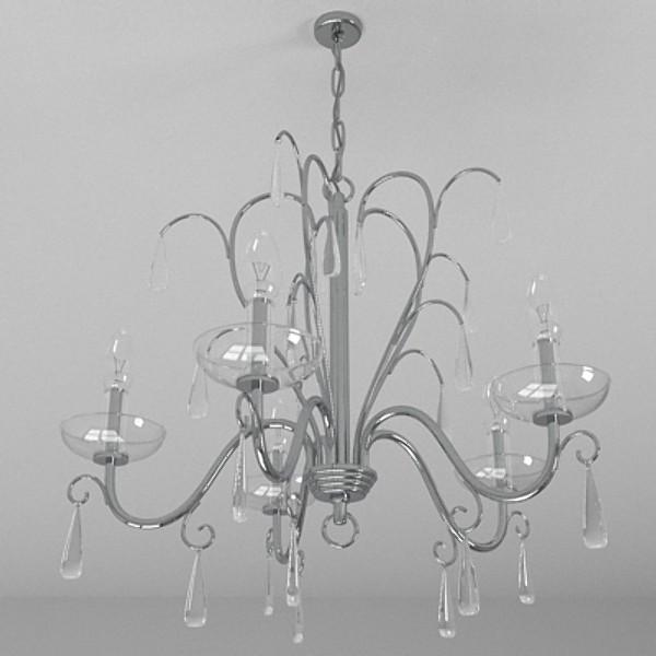 contemporary chandelier 5 3d model 3ds fbx skp obj 115278