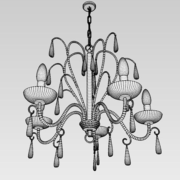 contemporary chandelier 5 3d model 3ds fbx skp obj 115282