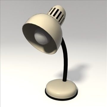 desk lamp 3d model 3ds blend obj 103670