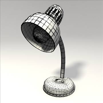 desk lamp 3d model 3ds blend obj 103671