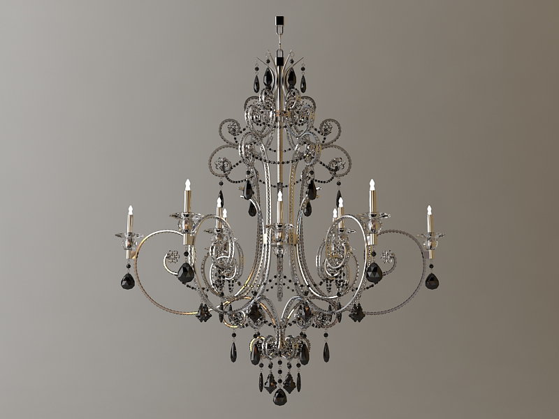detailed chandelier 3d model 3ds max fbx 114848