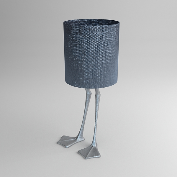 duck foot lamp 3d model 3ds max fbx texture obj 121091