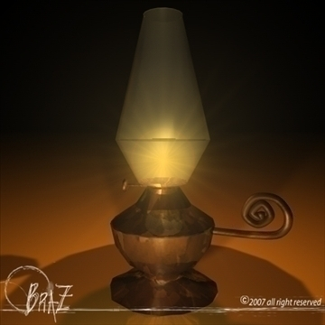 lantern 3d model 3ds dxf c4d obj 109207