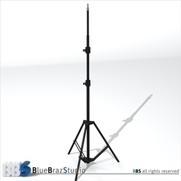 light stand 3d model 3ds dxf c4d obj 111592