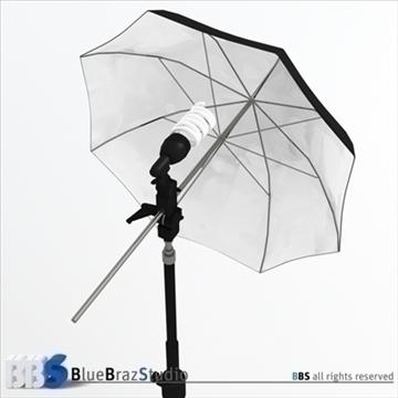 light umbrella 3d model 3ds dxf c4d obj 111599