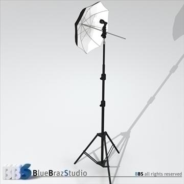 gaišs lietussargs 3d modelis 3ds dxf c4d obj 111602