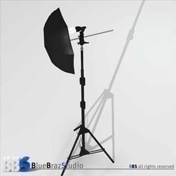gaišs lietussargs 3d modelis 3ds dxf c4d obj 111603