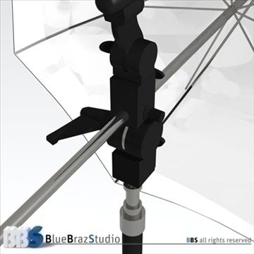 gaišs lietussargs 3d modelis 3ds dxf c4d obj 111604