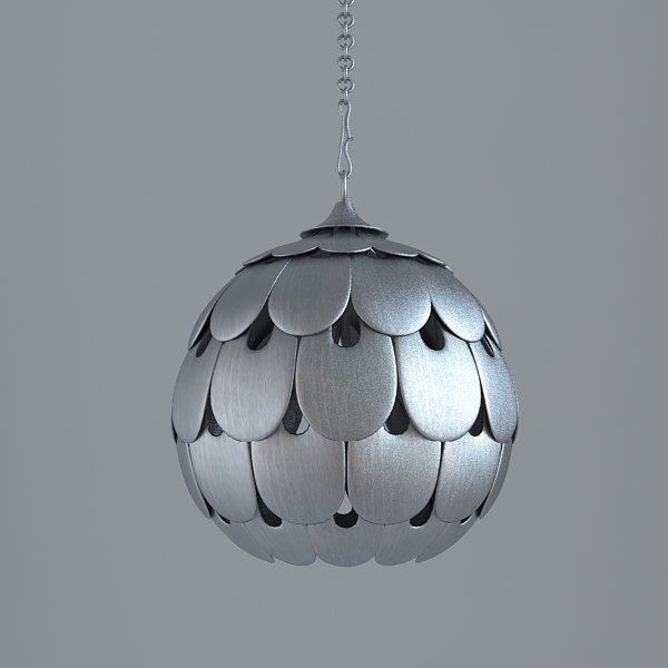 modern colour of old silver lamp 3d model 3ds max fbx texture obj 117755