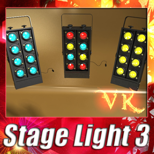 moving head led stage light 03 3d model 3ds max fbx obj 130737