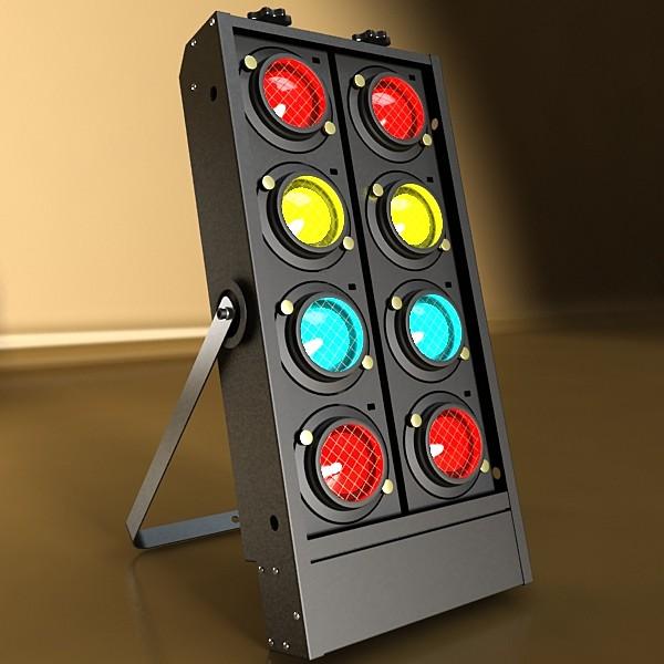 moving head led stage light 03 3d model 3ds max fbx obj 130739