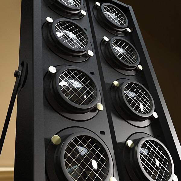 moving head led stage light 03 3d model 3ds max fbx obj 130741