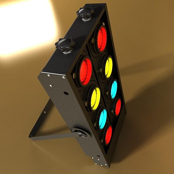 moving head led stage light 03 3d model 3ds max fbx obj 130742