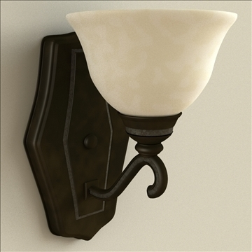 sconce 3d model 3ds max lwo obj 111048