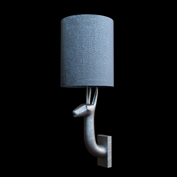 sconce lamp contemporary style 3d model 3ds max fbx texture obj 121086