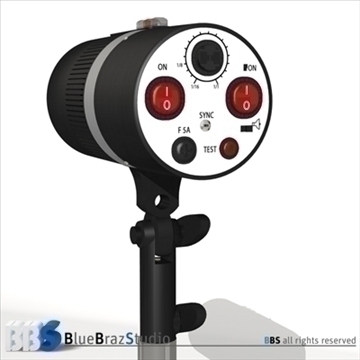 strobe light 3d modelis 3ds dxf c4d obj 104130