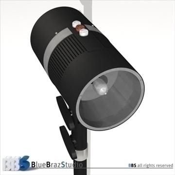 strobe light 3d model 3ds dxf c4d obj 104131