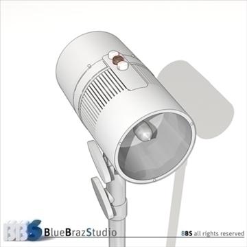 strobe light 3d model 3ds dxf c4d obj 104135