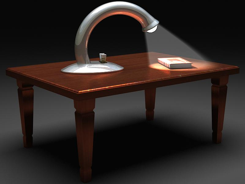 table reading lamp 3d model max 147574