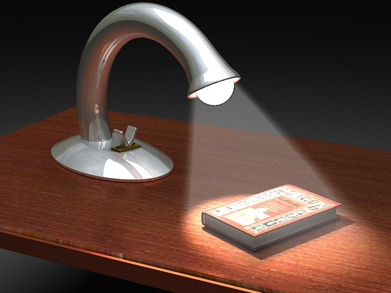 table reading lamp 3d model max 147575