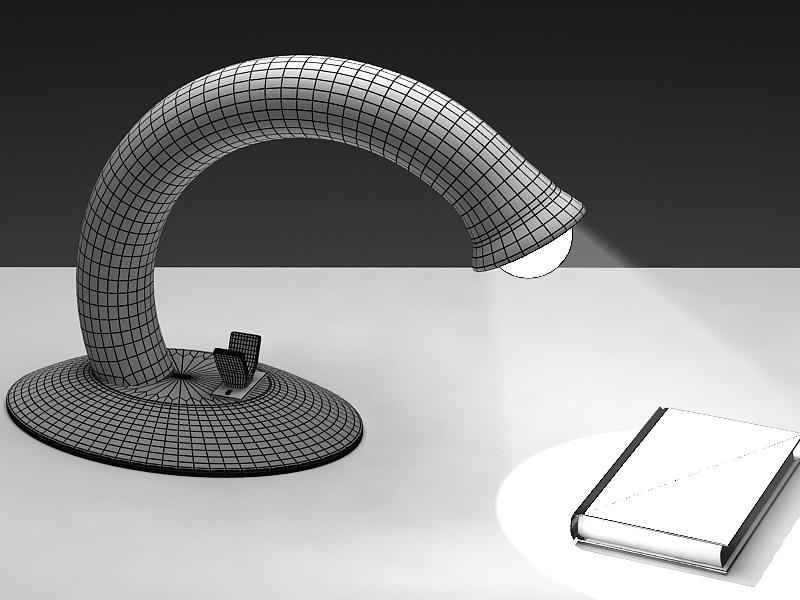 table reading lamp 3d model max 147578