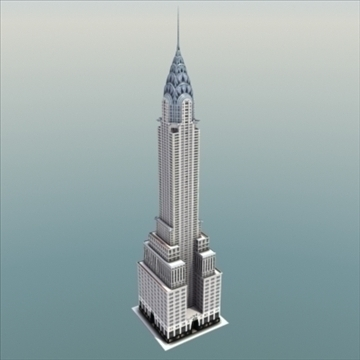 chrysler building nyc 3d model 3ds max fbx lwo ma mb hrc xsi cilësi obj 99366